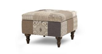 Country Patch Storage Footstool