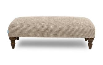 Plain Banquette Footstool Country Plain