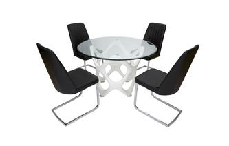 Fixed Table & Set of 4 Chairs Crater