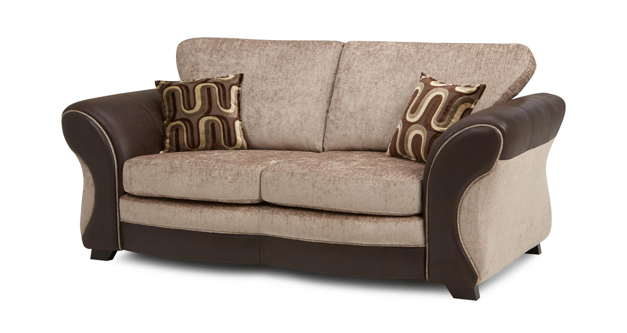 Dfs Croft Mink Brown Fabric Large 2 Seater Deluxe Sofa Bed