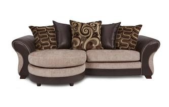 4 Seater Pillow Back Lounger Croft