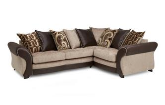Left Hand Facing 3 Seater Pillow Back Corner Sofa Croft