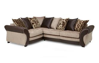 Right Hand Facing 3 Seater Pillow Back Corner Sofa Croft