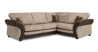 Croft Left Hand Facing 3 Seater Formal Back Deluxe Corner Sofa Bed