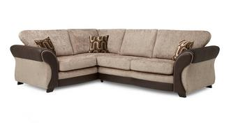 Croft Right Hand Facing 3 Seater Formal Back Deluxe Corner Sofa Bed