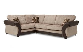 Right Hand Facing 3 Seater Formal Back Deluxe Corner Sofa Bed Croft
