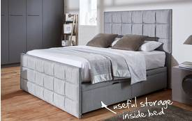 Cupid Double (4ft 6) Ottoman Bed Cupid