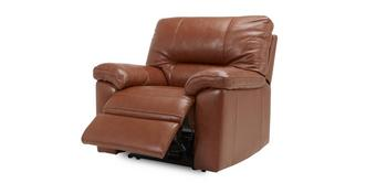 Dalmore Leather and Leather Look Manual Recliner Chair