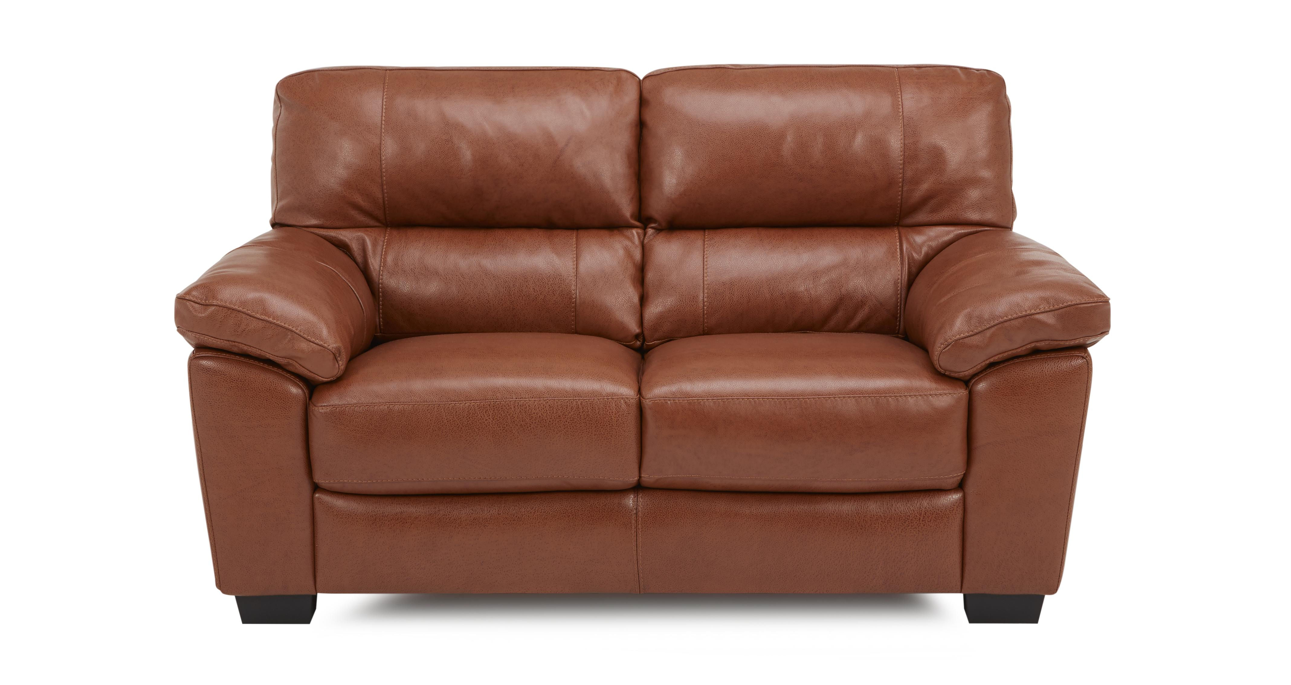 Dalmore Leather and Leather Look 2 Seater Sofa Brazil with  : dalmore2hbrazilwithleatherlookfabricbrandyview1 from www.dfs.co.uk size 4273 x 2268 jpeg 674kB