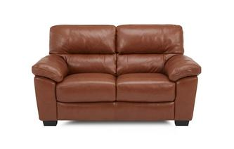 Leather and Leather Look 2 Seater Sofa Brazil with Leather Look Fabric