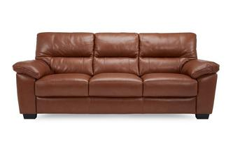 Leather and Leather Look 3 Seater Sofa Brazil with Leather Look Fabric