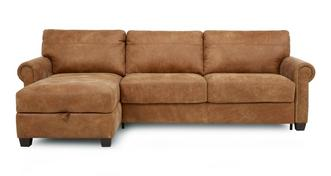 Davenport Left Hand Facing Storage Chaise Sofa Bed