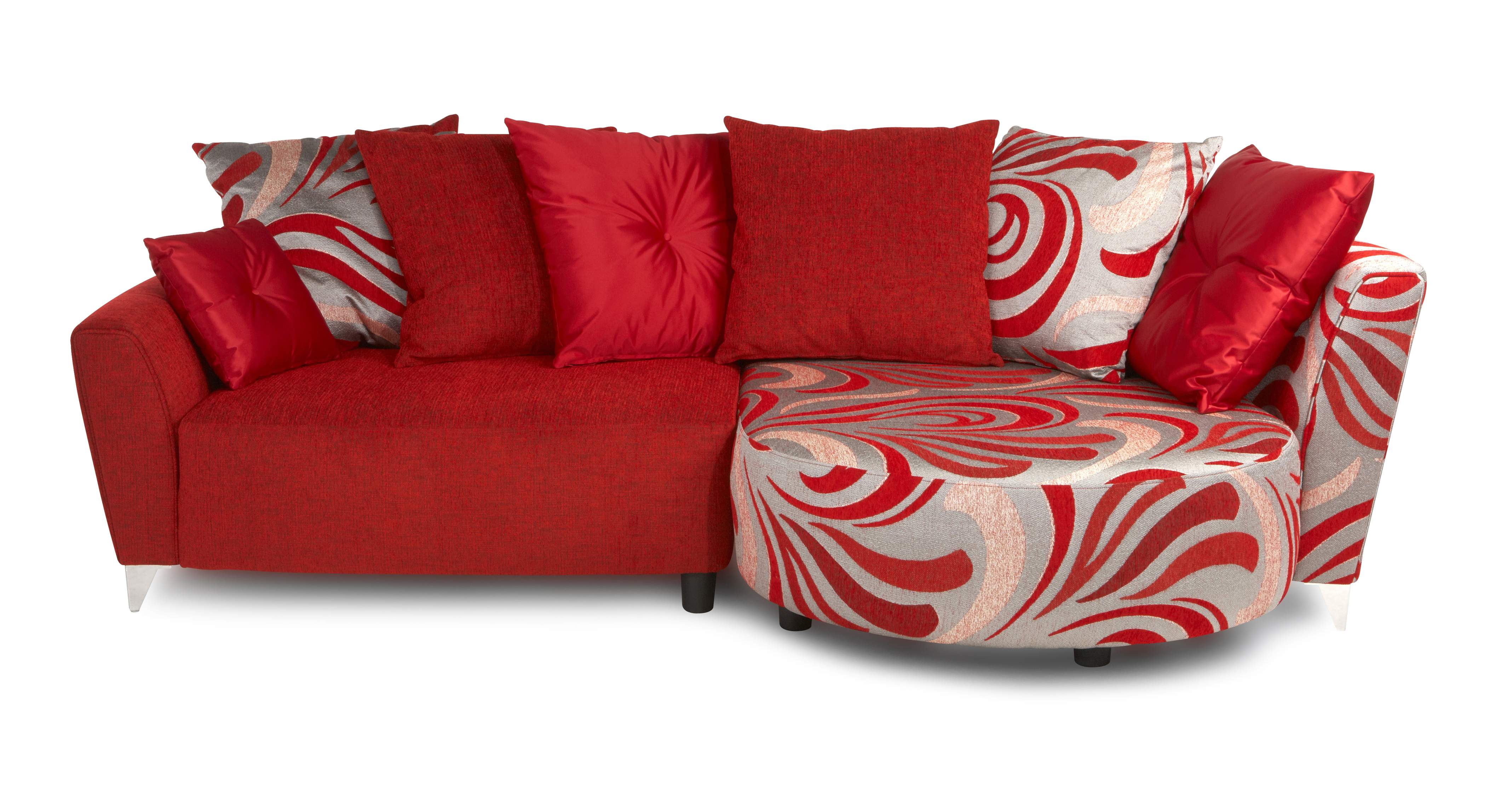 DFS Daze Right Hand Facing Red Chaise Sofa EBay