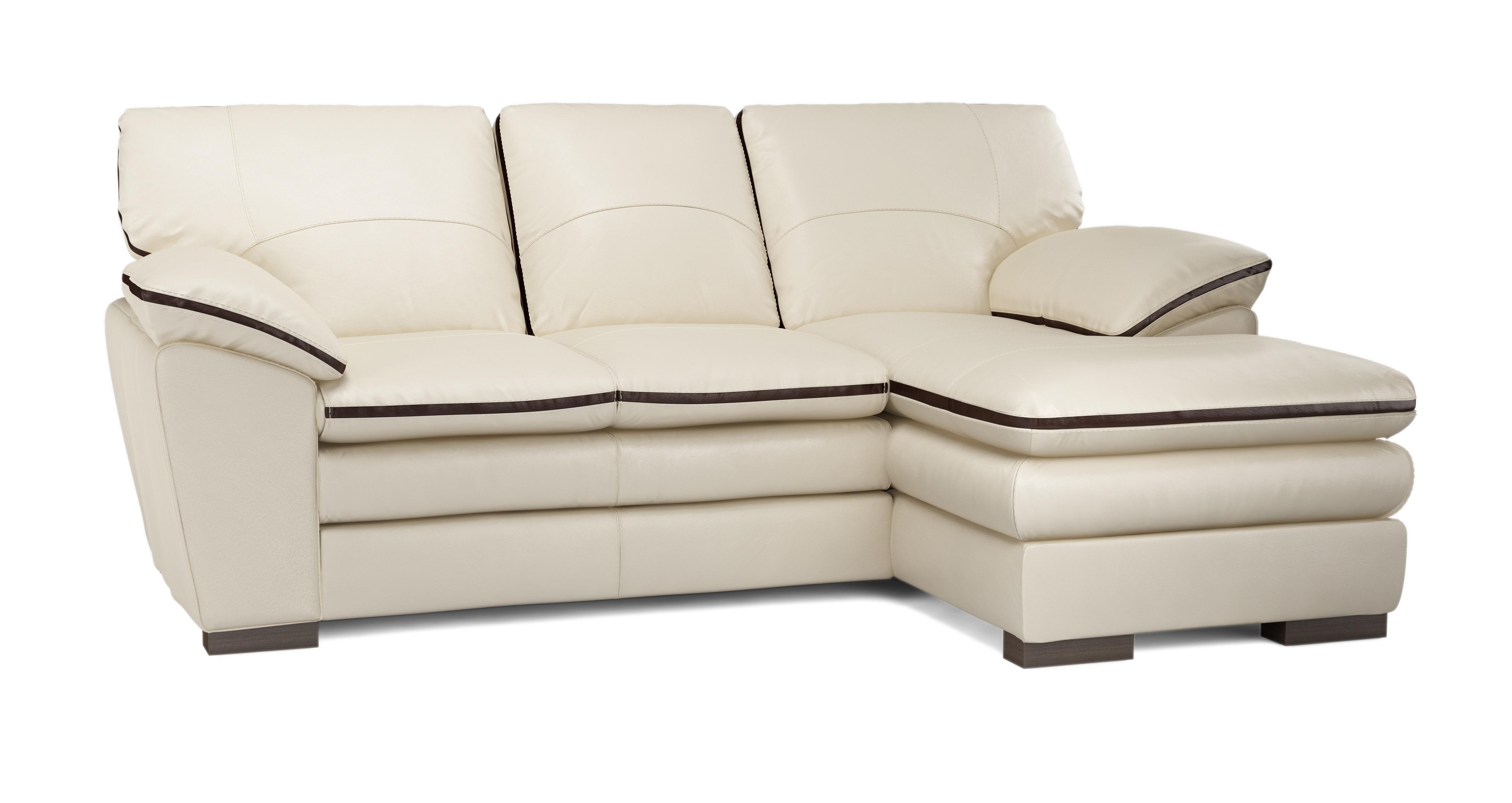 Brown Leather Chaise End Sofa Of Dfs Deco Pebble Brown Leather Set Inc Chaise End Sofa