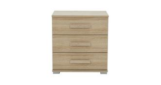Delano 3 Drawer Bedside Table