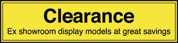 Ex Showroom Display Models Clearance