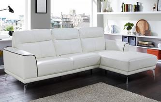 Denver Leather and Leather Look Right Hand Facing Chaise End Sofa Essential