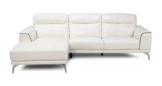 Denver Leather and Leather Look Left Hand Facing Chaise End Sofa