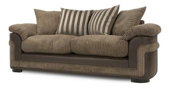 Destiny 3 Seater Pillow Back Deluxe Sofa Bed