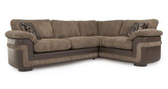 Destiny Left Hand Facing Formal Back 2 Seater Corner Sofa