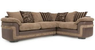 Destiny Left Hand Facing Pillow Back 2 Seater Corner Sofa