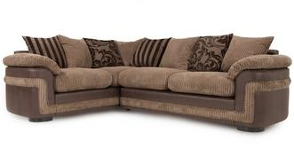 Destiny Right Hand Facing Pillow Back 2 Seater Corner Sofa