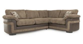 Destiny Left Hand Facing Formal Back 2 Seater Corner Deluxe Sofa Bed
