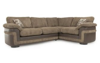 Left Hand Facing Formal Back 2 Seater Corner Deluxe Sofa Bed Eternal