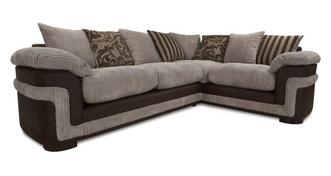 Destiny Left Hand Facing Pillow Back 2 Seater Corner Deluxe Sofa Bed