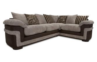 Left Hand Facing Pillow Back 2 Seater Corner Deluxe Sofa Bed Eternal