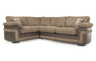 Right Hand Facing Formal Back 2 Seater Corner Deluxe Sofa Bed Eternal