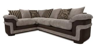 Destiny Right Hand Facing Pillow Back 2 Seater Corner Deluxe Sofa Bed