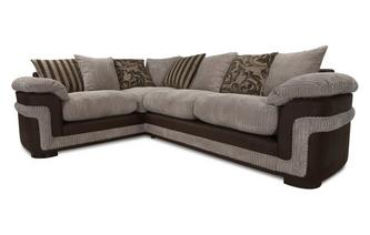 Right Hand Facing Pillow Back 2 Seater Corner Deluxe Sofa Bed Eternal