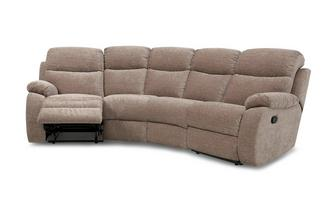 4 Seater Curved Manual Recliner Devon