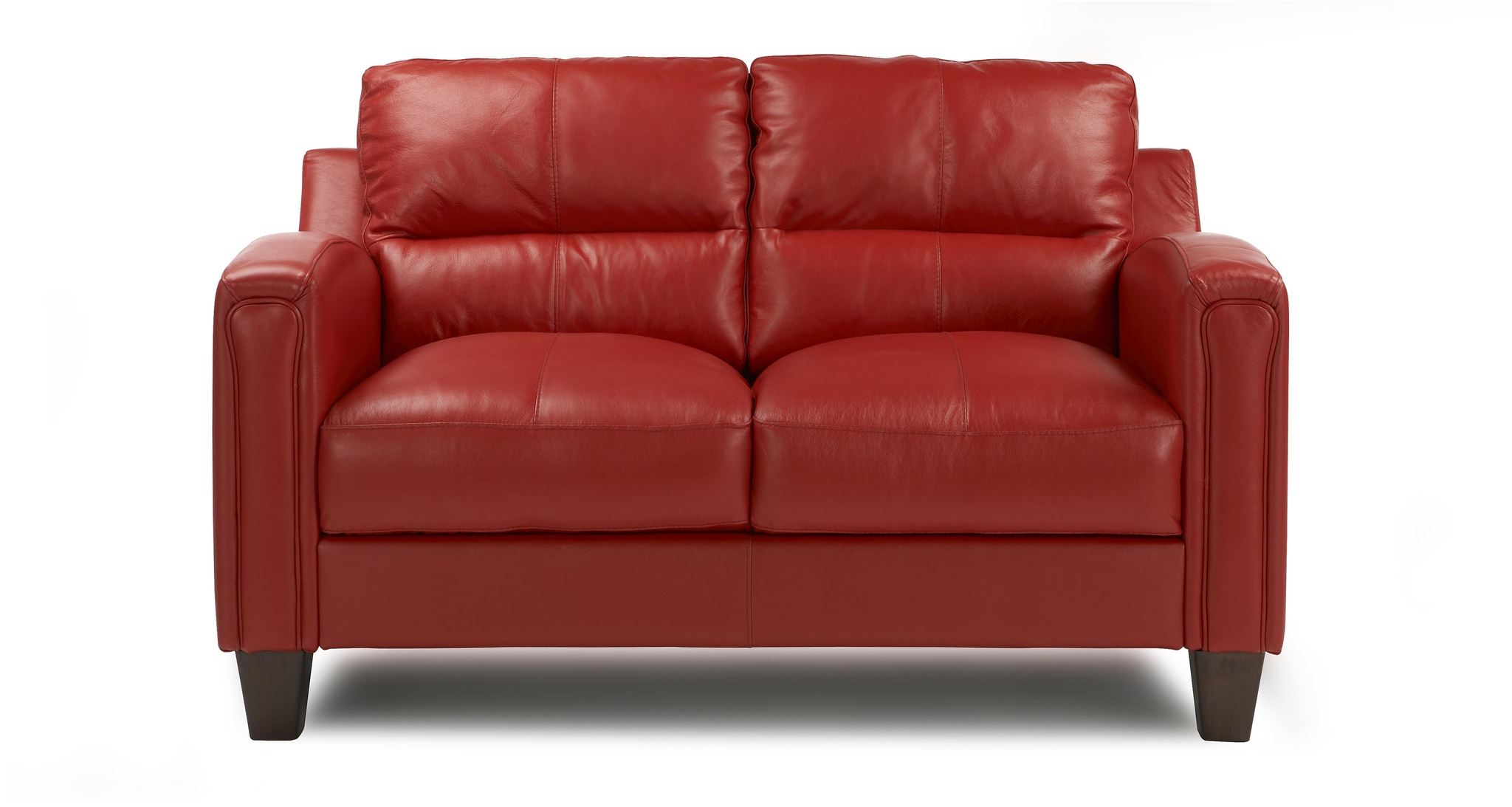 DFS BOUNTY RED SOFA 100 REAL LEATHER SETTEE EBay