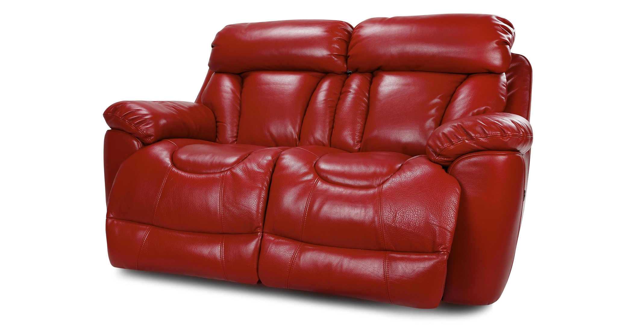 Dfs Supreme Settee 2 Seater Red Leather Power Recliner Sofa