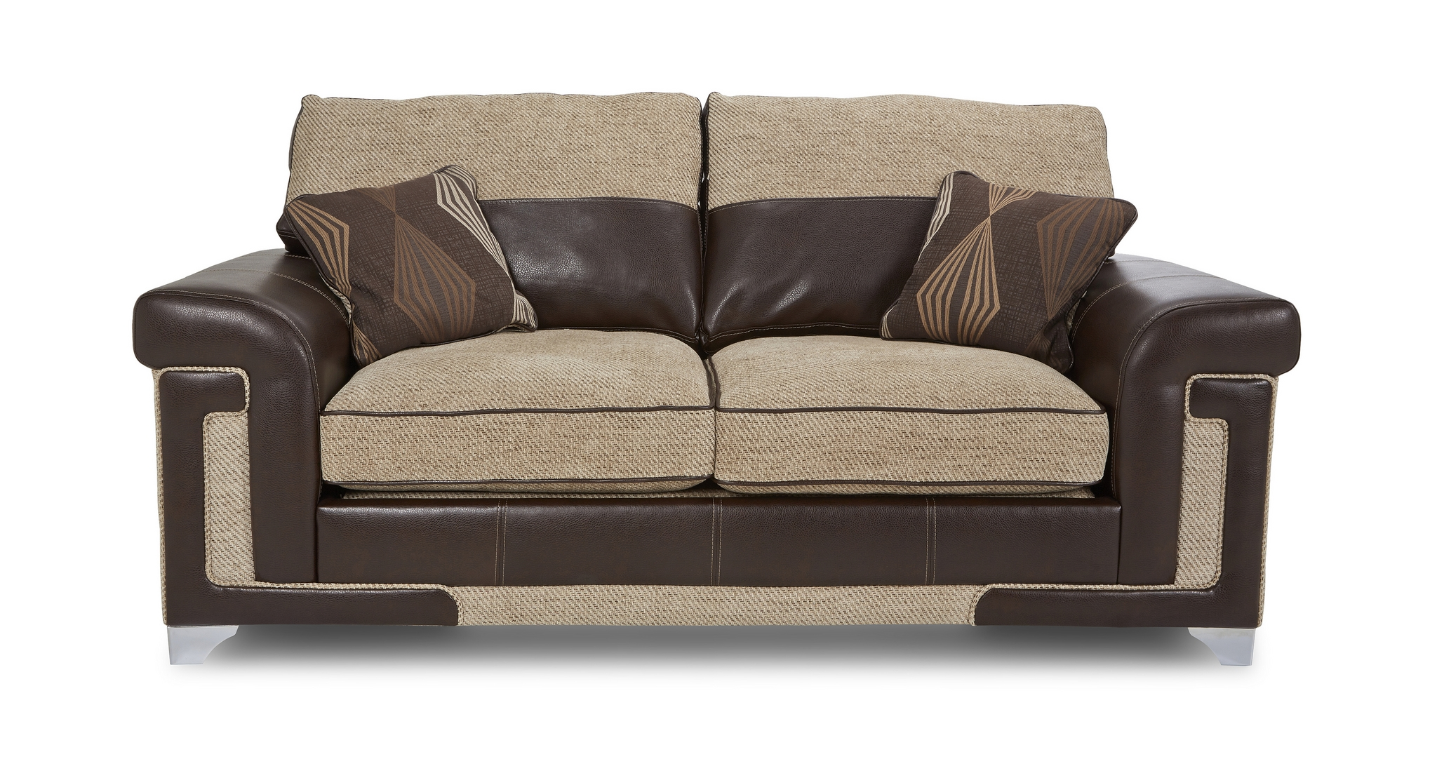 Dfs Taboo Oatmeal Formal Back Settee 2 Seater Deluxe