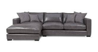 Dillon Leather Left Hand Facing Small Chaise End Sofa