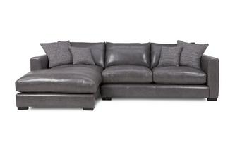Leather Left Hand Facing Small Chaise End Sofa Dillon Leather