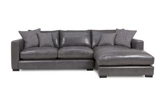 Leather Right Hand Facing Small Chaise End Sofa Dillon Leather