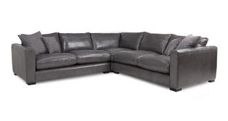 Dillon Leather Small Corner Sofa