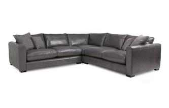 Leather Small Corner Sofa Dillon Leather