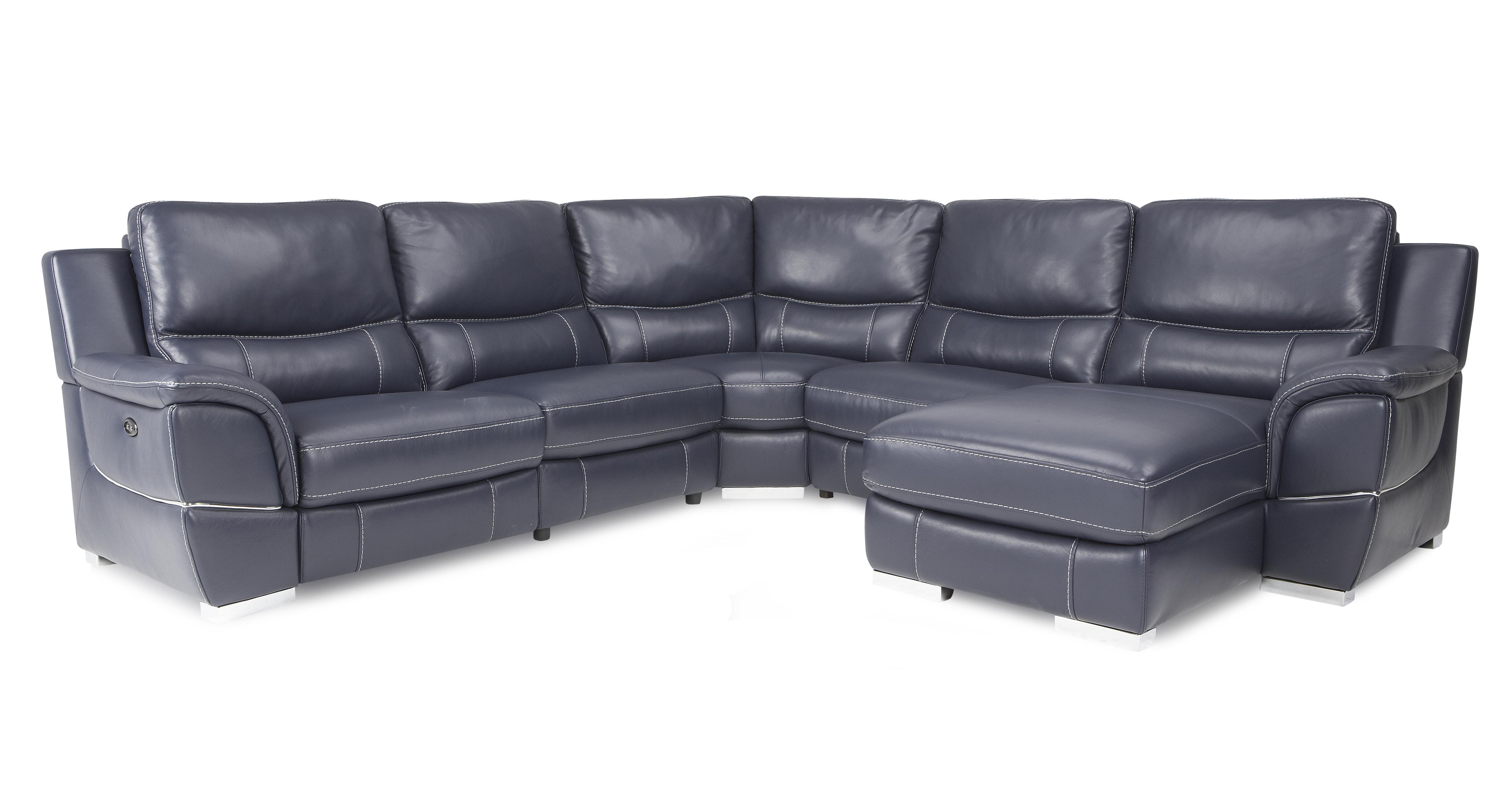 Director right hand facing electric chaise corner sofa new for Chaise corner sofa