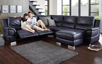 Director Right Hand Facing Electric Chaise Corner Sofa New Club Contrast