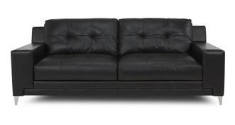 Domain Leather and Leather Look 3 Seater Sofa