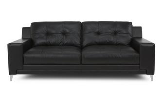 Leather and Leather Look 3 Seater Sofa Le Mans
