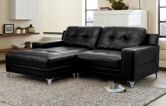 Domain Leather and Leather Look Left Hand Facing Chaise End Sofa Le Mans