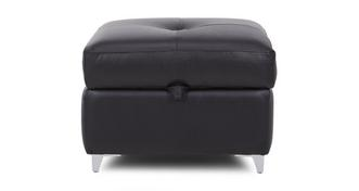 Domain Leather and Leather Look Storage Footstool