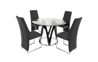 Fixed Table & Set of 4 Chairs