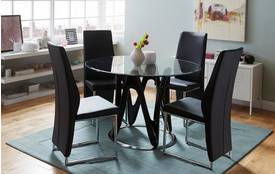 Drift Fixed Table & Set of 4 Chairs Drift Chair